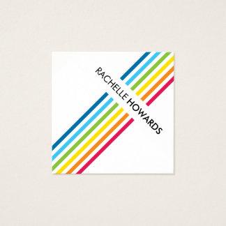 KOELE VERSE MODERNE kleurrijke gewaagde Vierkante Visitekaartjes