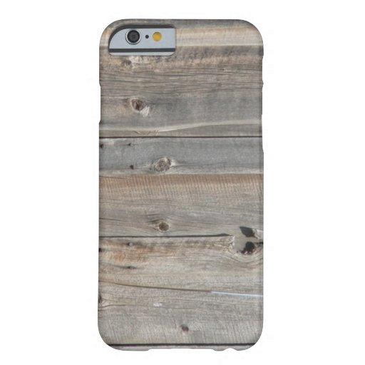 koele westerne rustieke grijze schuur houten barely there iPhone 6 hoesje