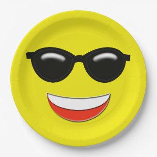 Koele Zonnebril Emoji Papieren Bordje