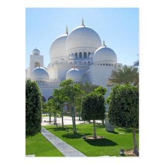 Koepels van de Moskee van Zayed van de sjeik de Briefkaart