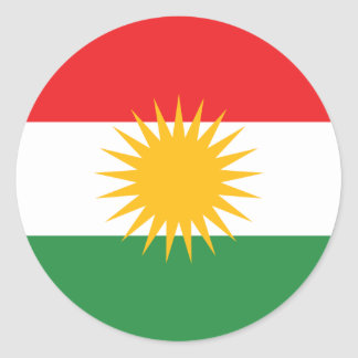 Koerdistan Ronde Sticker