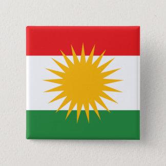 Koerdistan Vierkante Button 5,1 Cm