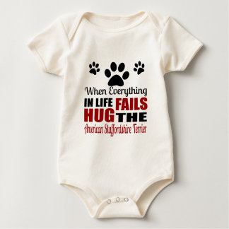 Koester de Amerikaanse Staffordshire Terrier Hond Baby Shirt