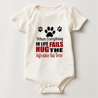 Koester de Staffordshire Bull terrier Hond Baby Shirt