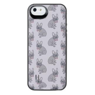 Koester me, leuke Lila behoeften Frenchie een iPhone SE/5/5s Batterij Hoesje