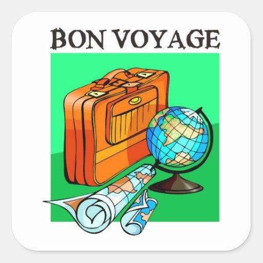 Koffer, bagage, kaart en wereldbol: De Reis van Bo Stickers