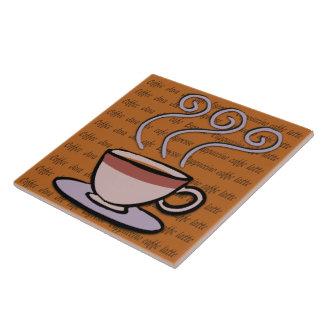 Koffie - de Tegel/de Treeft van het Ontwerp van de Tegeltje