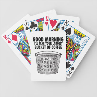 Koffie door de emmer poker kaarten