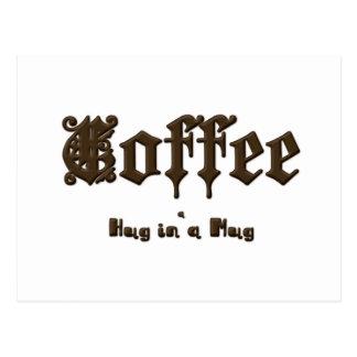 Koffie - een Omhelzing in een Gotische    Mok Briefkaart