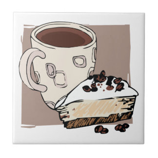 Koffie en Cake Tegeltje