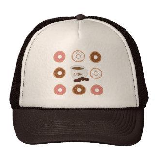 Koffie en Canvas tas Donuts Trucker Pet