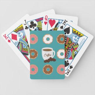 Koffie en Donuts Bicycle Speelkaarten