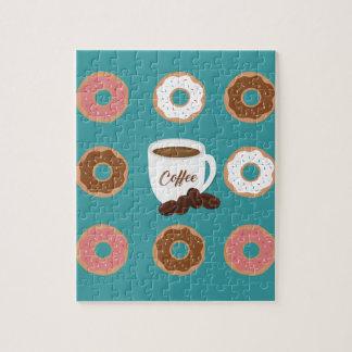 Koffie en Donuts Foto Puzzels