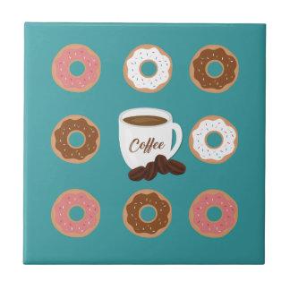Koffie en Donuts Keramisch Tegeltje