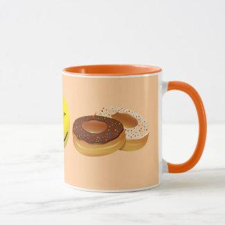 Koffie en doughnuts mok