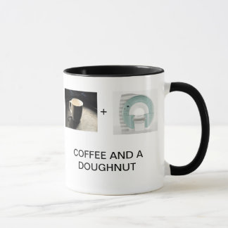 KOFFIE EN EEN DOUGHNUT MOK