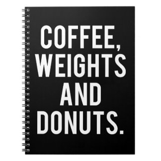 Koffie, Gewichten en Donuts - de Grappige Ringband Notitieboek
