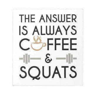 Koffie & Hurkzit 2 Notitieblok
