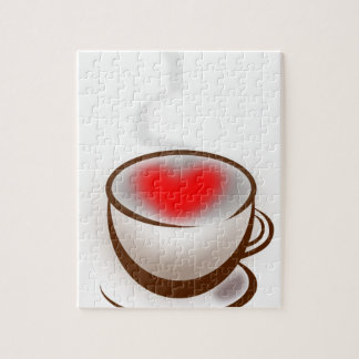 Koffie met Liefde wordt gemaakt die. Hart in de Puzzels