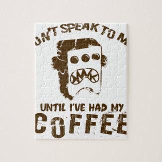 koffie ontwerp puzzel