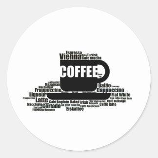 Koffie Ronde Sticker
