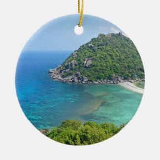Koh Tao Thailand Rond Keramisch Ornament