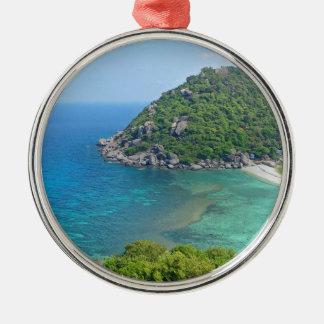 Koh Tao Thailand Zilverkleurig Rond Ornament