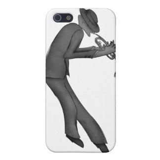 Kokopelli speelt het art. van Blauw iPhone 5 Case