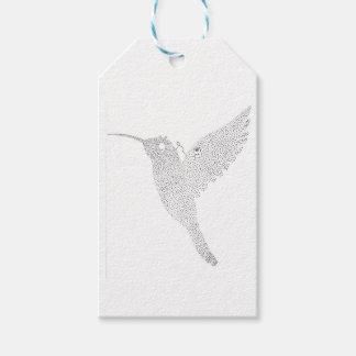 Kolibrie die uit blokkeren cadeaulabel