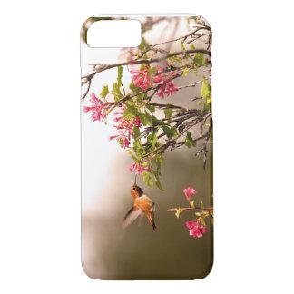 Kolibrie en Bloemen iPhone 8/7 Hoesje