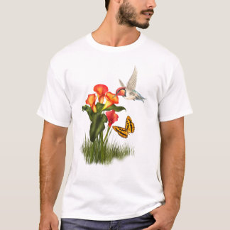 Kolibrie en lelies t shirt
