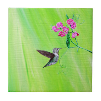Kolibrie & Schatten Keramisch Tegeltje
