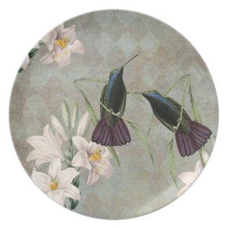 Kolibries en Lelies Bord