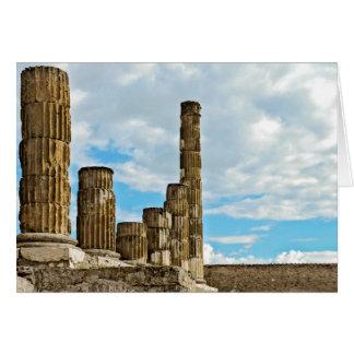 Kolommen in Pompei - Leeg Wenskaart