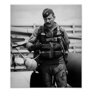 Kolonel Robin Olds Poster