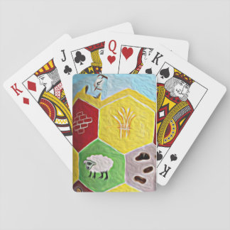 Kolonisten van Catan gestileerde speelkaarten