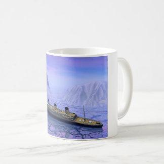 Kolossaal schip die 3D dalen - geef terug Koffiemok