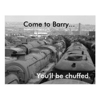 Kom aan Barry Briefkaart