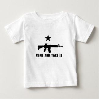 Kom en neem het baby t shirts