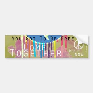 Kom samen de Sticker van de Bumper van de Vrede Bumpersticker
