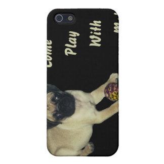 Kom Spel met me Pug Puppy iPhone 5 Cases
