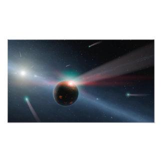 Kometen rond NASA van Eta Corvi Foto Print