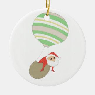 Komt hier de Kerstman {ornament} AANPASSEN Rond Keramisch Ornament