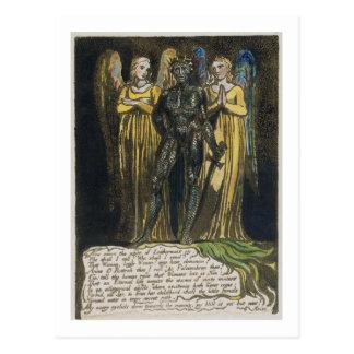 """Komt nu de nacht…"" bord 7 van 'Europa. P Briefkaart"