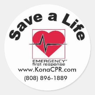 Kona CPR bewaart een Sticker van het Leven