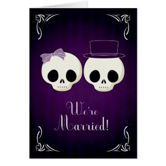 Kondig Uw Huwelijk met een Gotisch Thema aan Wenskaart