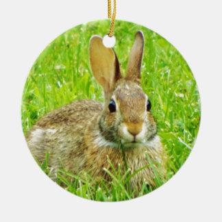 konijn rond keramisch ornament