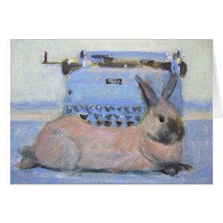 Konijn & Schrijfmachine Briefkaarten 0