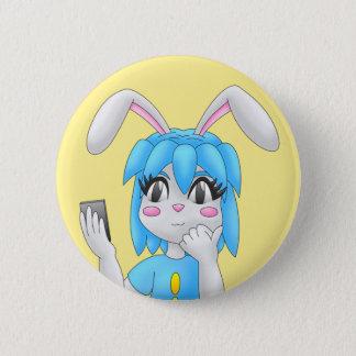 konijntjes knoop ronde button 5,7 cm