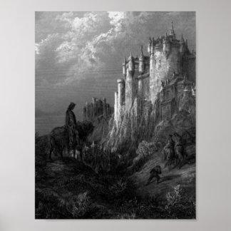 Koning Arthur met Mooi Kasteel Poster